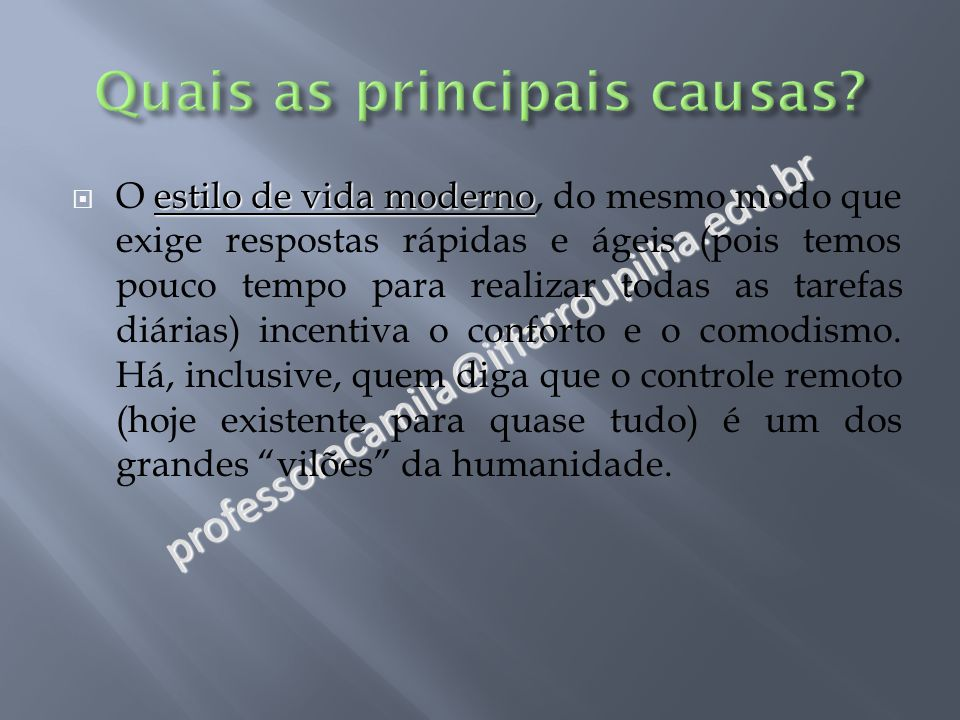Quais as principais causas