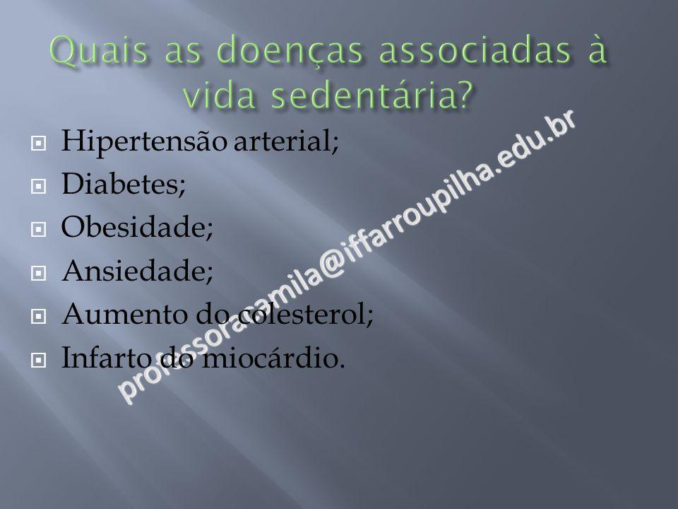 Quais as doenças associadas à vida sedentária