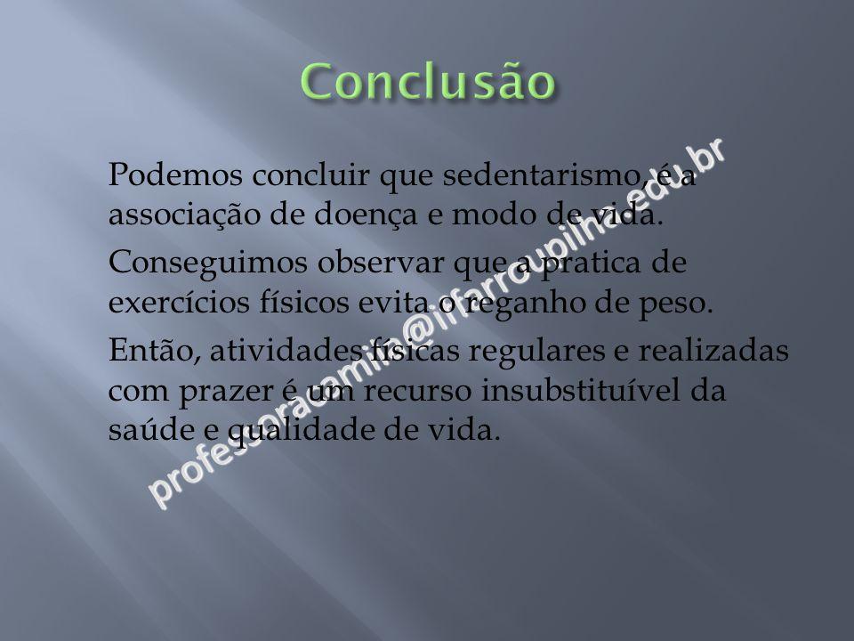 Conclusão professoracamila@iffarroupilha.edu.br