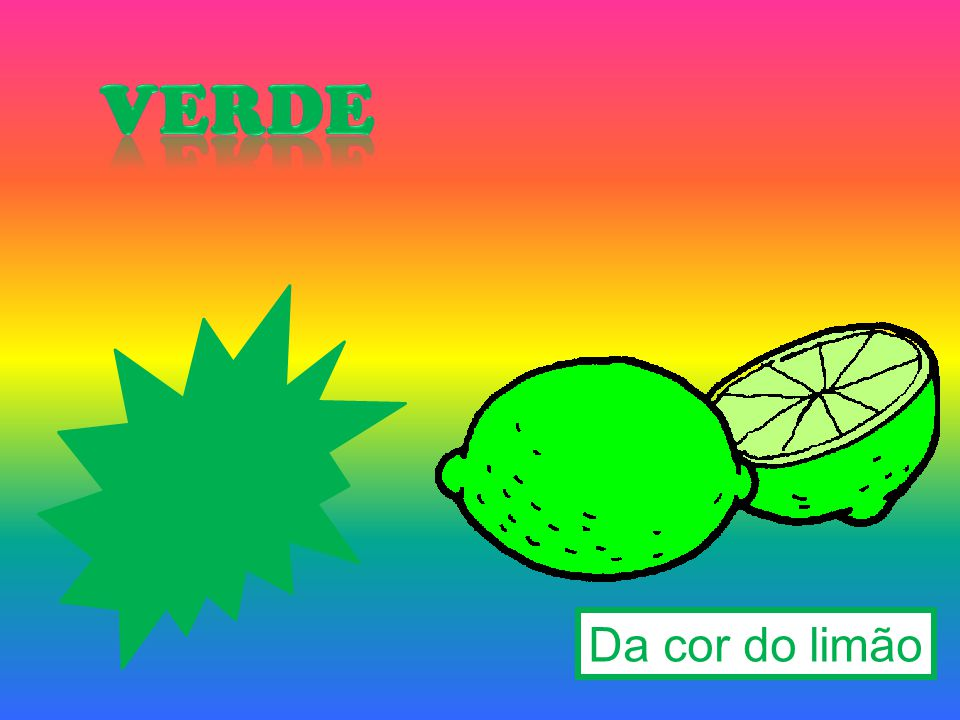 verde Da cor do limão