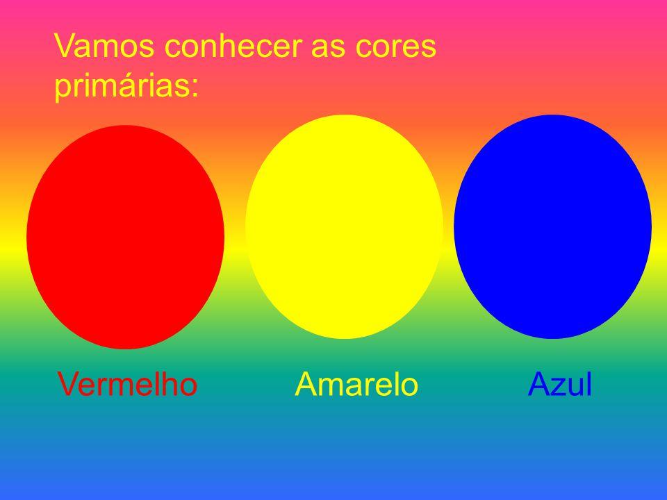 Vamos conhecer as cores primárias: