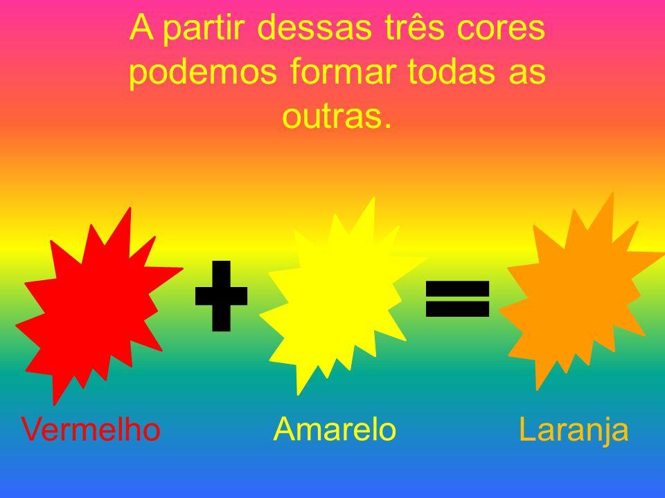 A partir dessas três cores podemos formar todas as outras.
