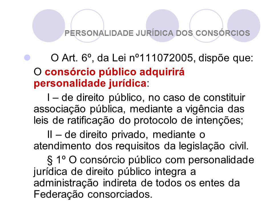 PERSONALIDADE JURÍDICA DOS CONSÓRCIOS