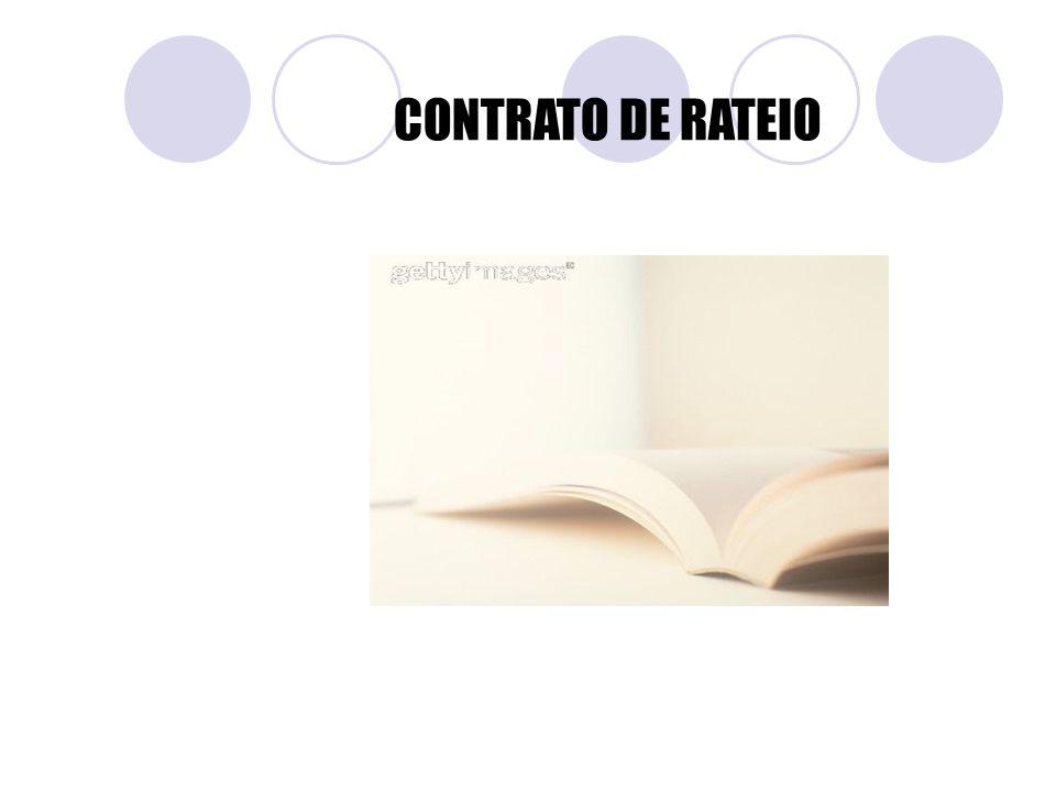 CONTRATO DE RATEIO