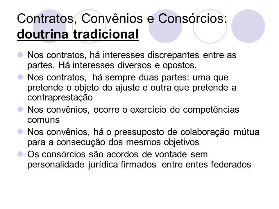 Contratos, Convênios e Consórcios: doutrina tradicional