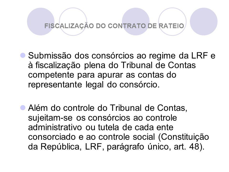 FISCALIZAÇÃO DO CONTRATO DE RATEIO