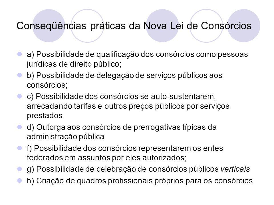 Conseqüências práticas da Nova Lei de Consórcios