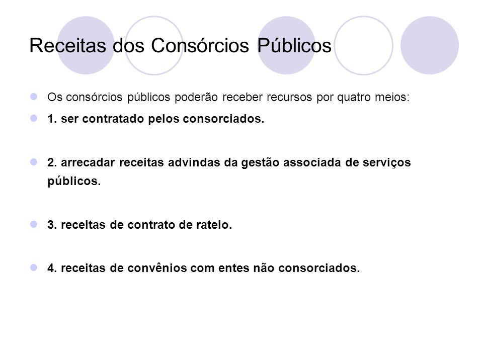 Receitas dos Consórcios Públicos