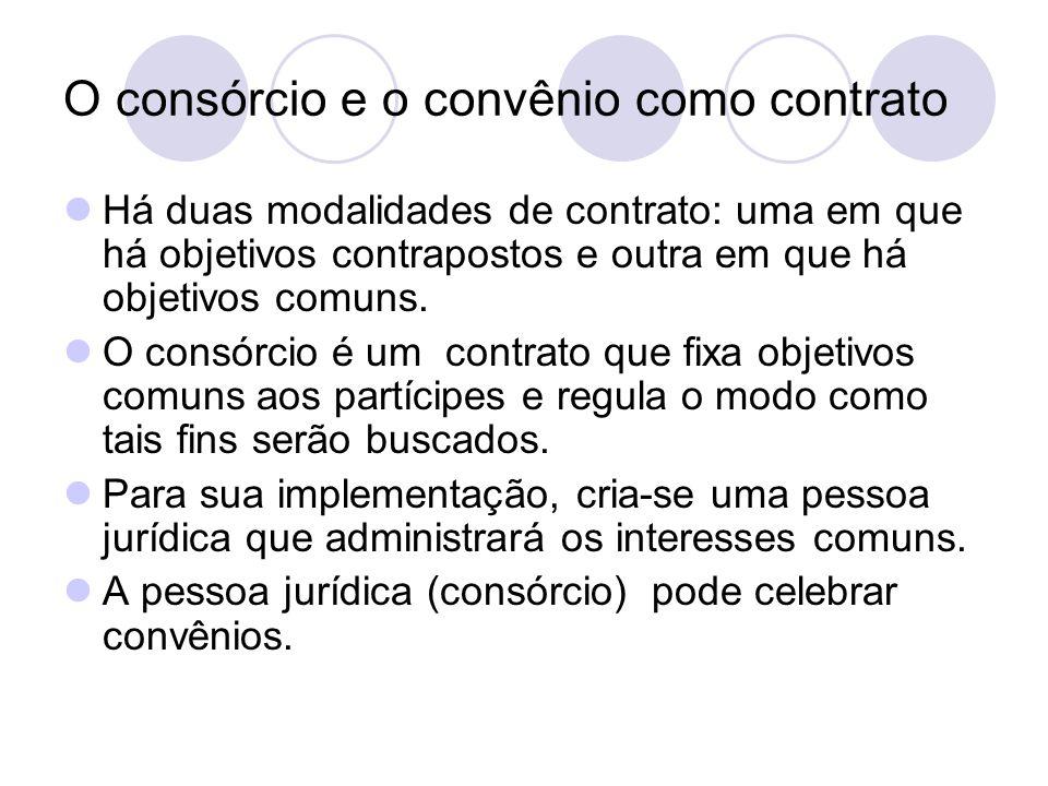 O consórcio e o convênio como contrato