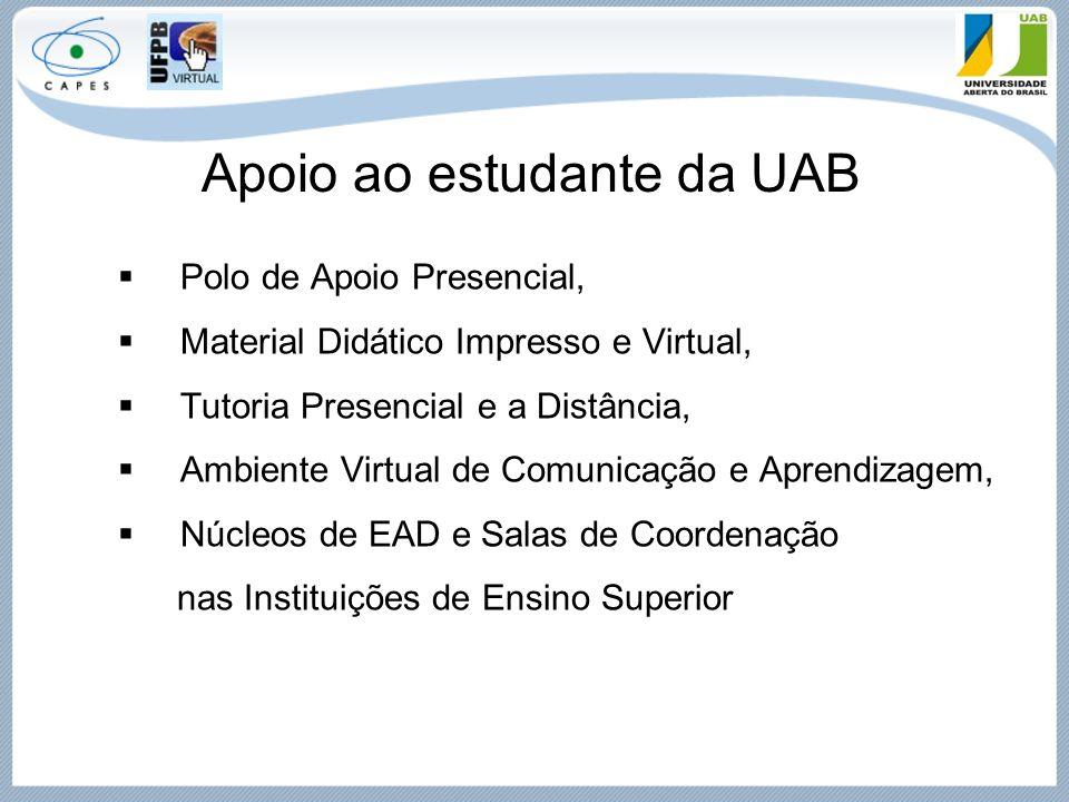 Apoio ao estudante da UAB