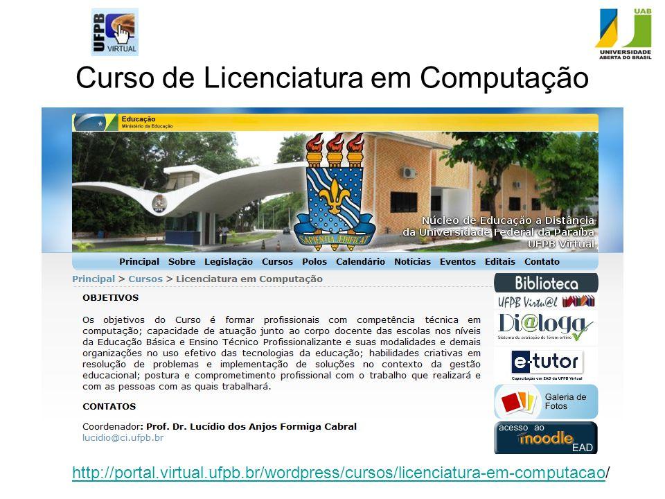 Curso de Licenciatura em Computação