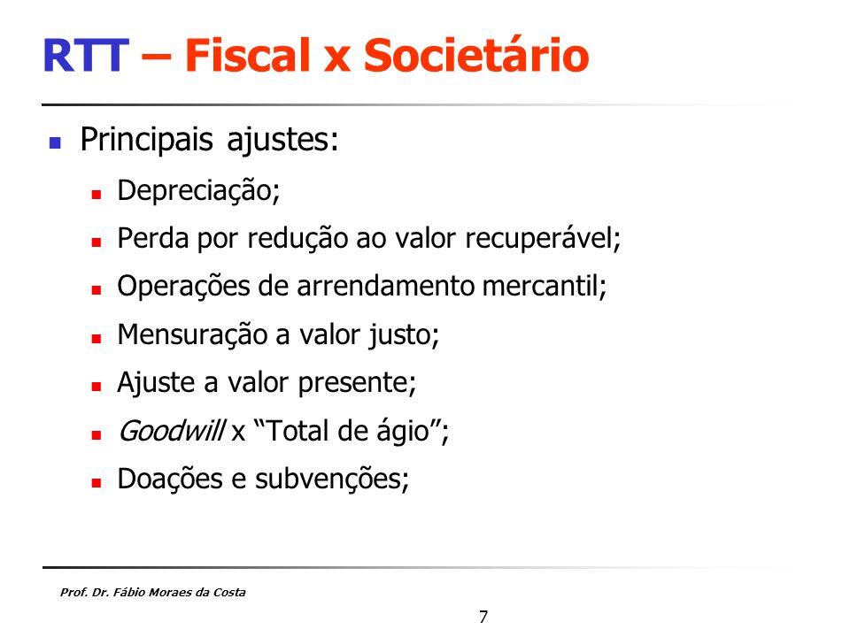 RTT – Fiscal x Societário
