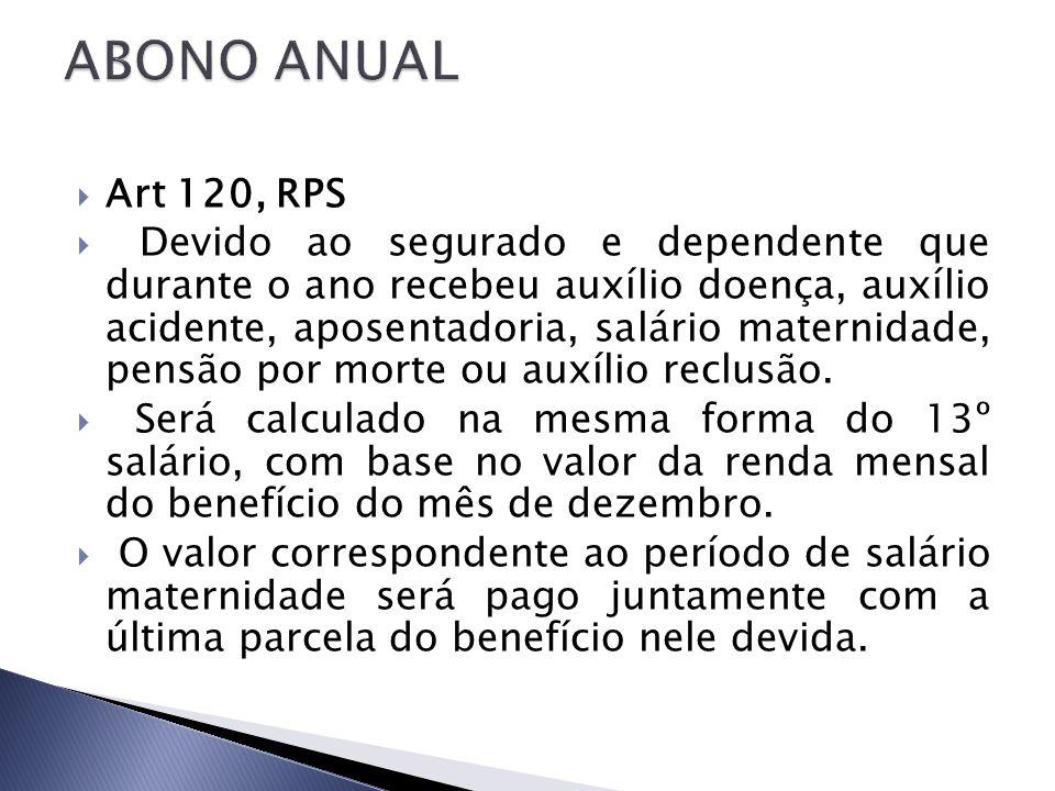 ABONO ANUAL Art 120, RPS.