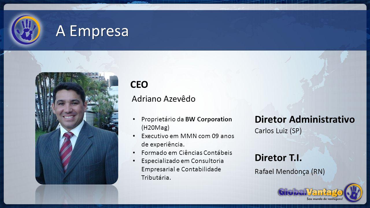 A Empresa CEO Diretor Administrativo Diretor T.I. Adriano Azevêdo
