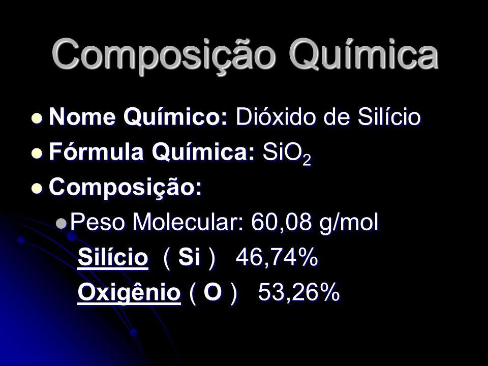 Composição Química Nome Químico: Dióxido de Silício