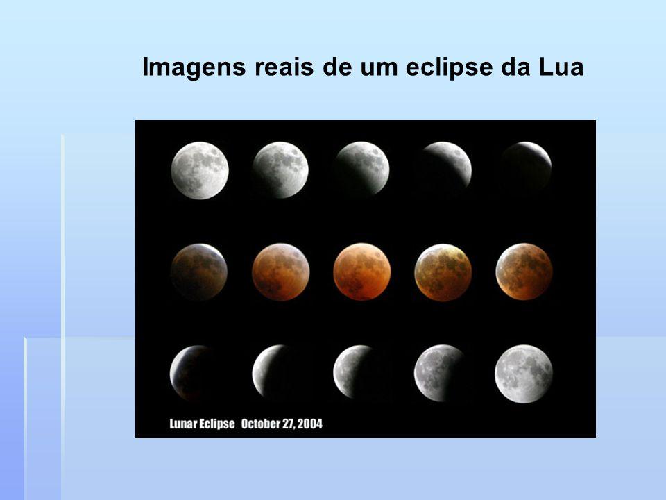 Imagens reais de um eclipse da Lua
