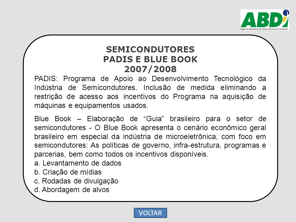 SEMICONDUTORES PADIS E BLUE BOOK 2007/2008