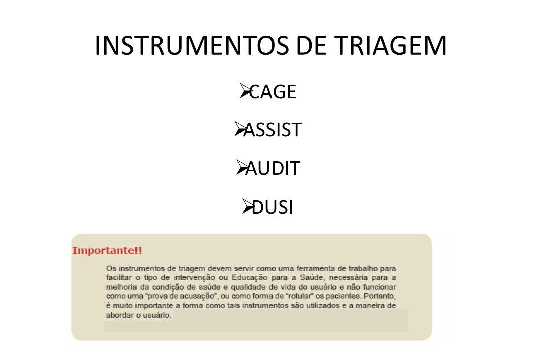INSTRUMENTOS DE TRIAGEM
