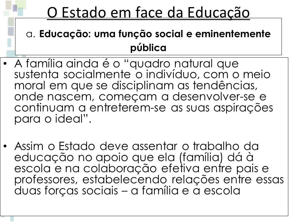 O Estado em face da Educação a