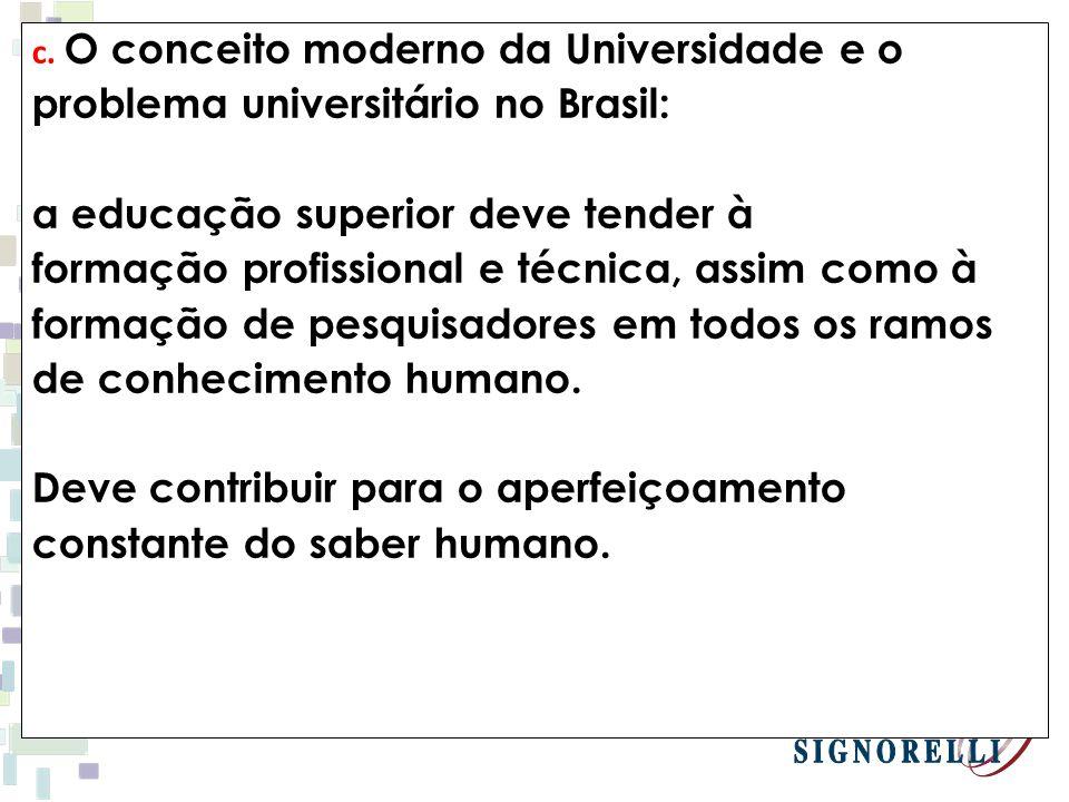 problema universitário no Brasil: a educação superior deve tender à