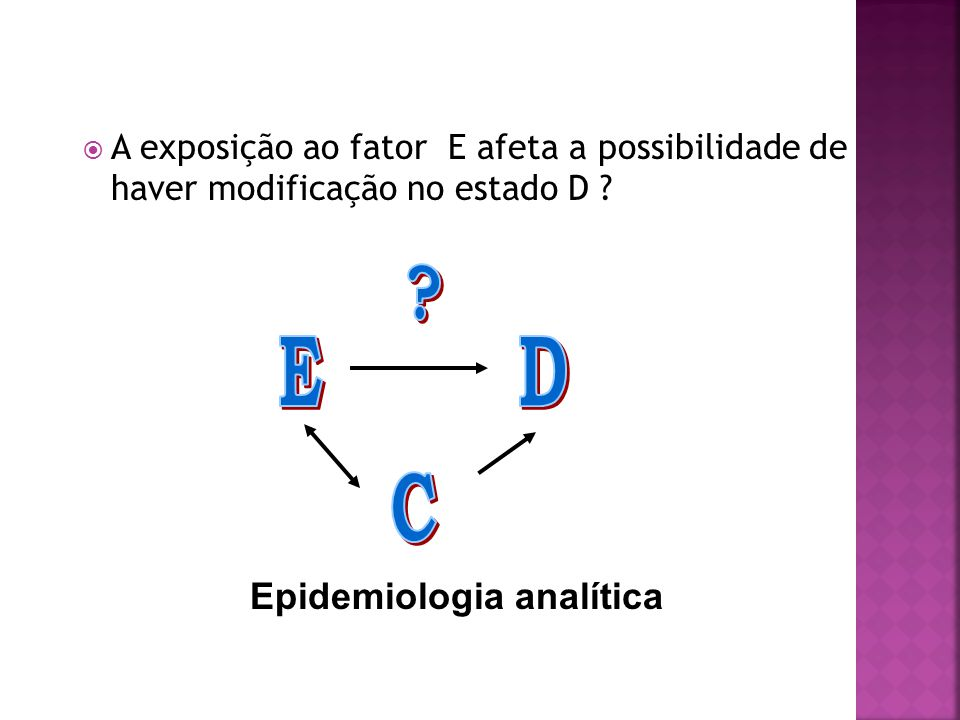 E D C Epidemiologia analítica