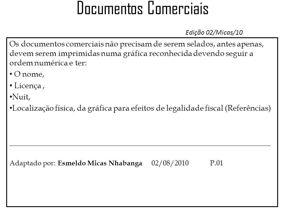 Documentos Comerciais Edição 02/Micas/10