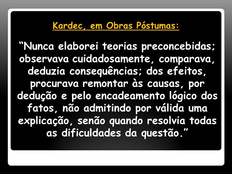 Kardec, em Obras Póstumas:
