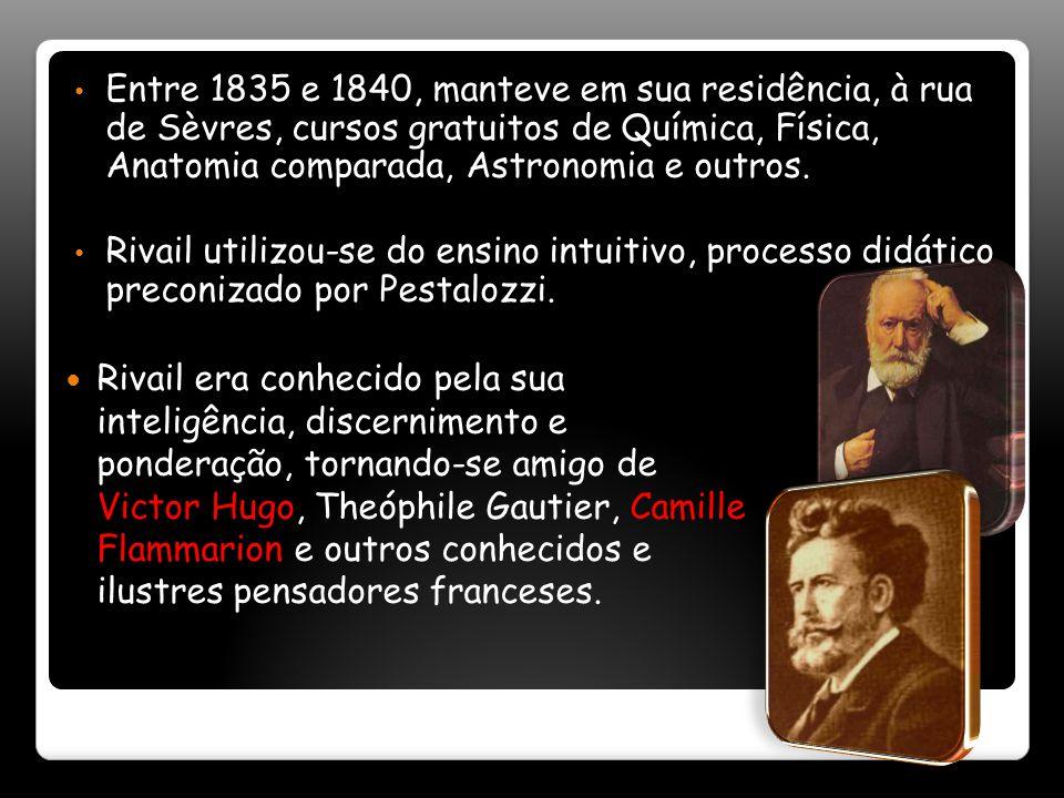 Entre 1835 e 1840, manteve em sua residência, à rua de Sèvres, cursos gratuitos de Química, Física, Anatomia comparada, Astronomia e outros.