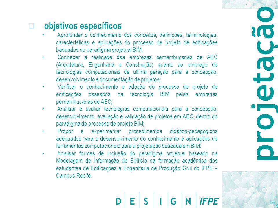 projetação objetivos específicos