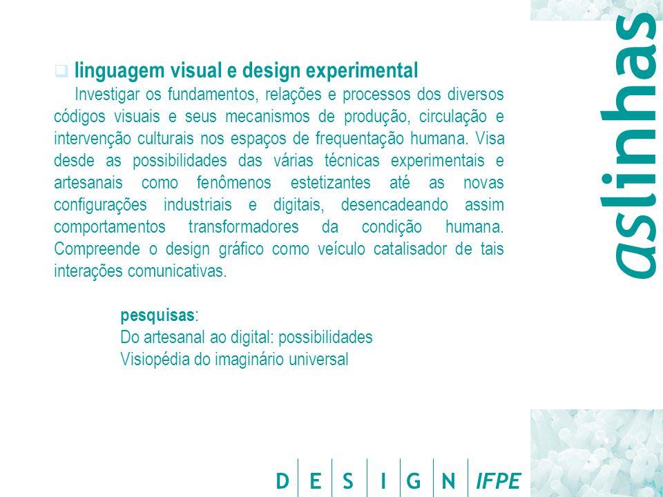 aslinhas linguagem visual e design experimental
