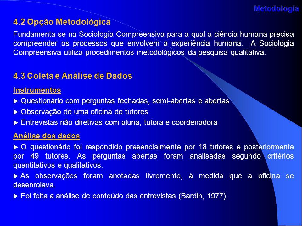 4.3 Coleta e Análise de Dados