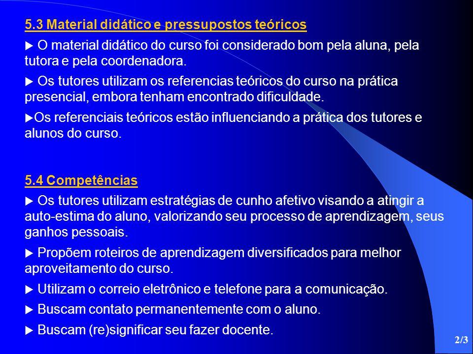 5.3 Material didático e pressupostos teóricos
