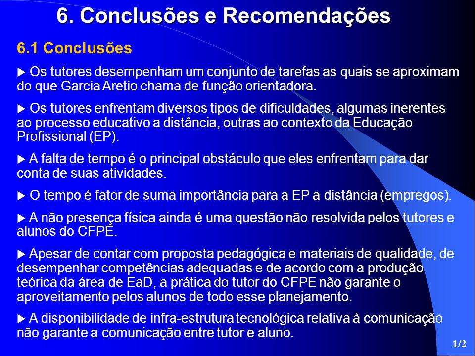 6. Conclusões e Recomendações