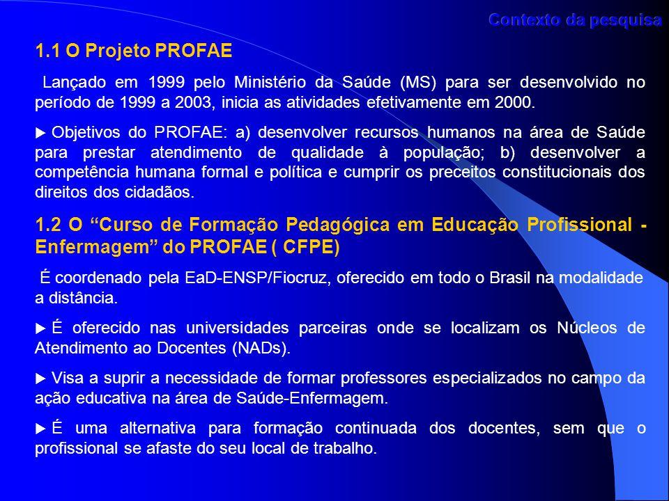 Contexto da pesquisa 1.1 O Projeto PROFAE.
