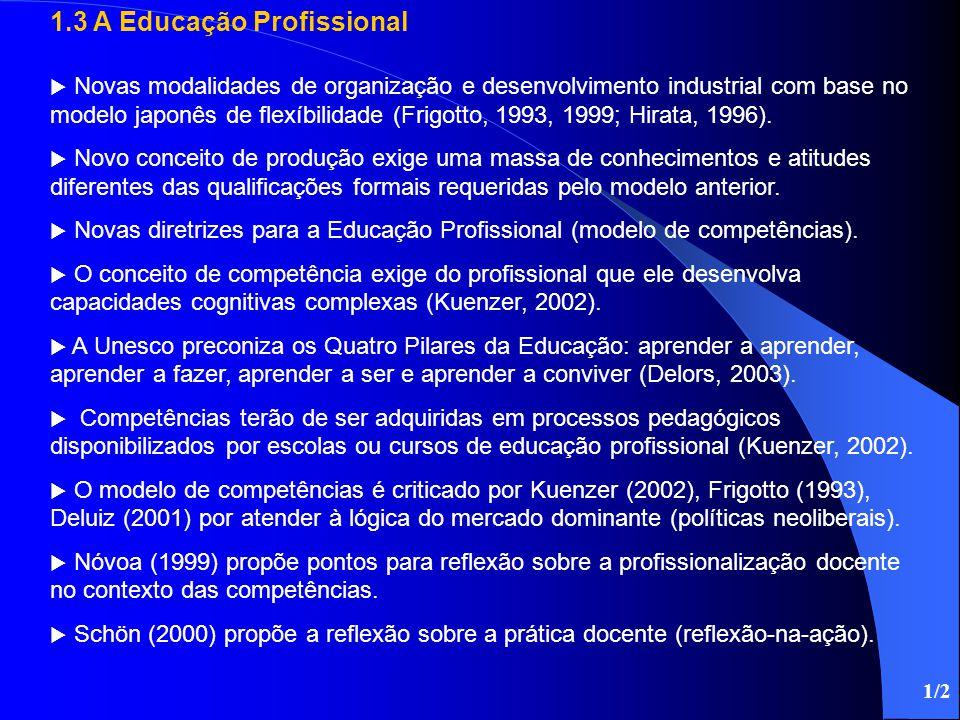 1.3 A Educação Profissional