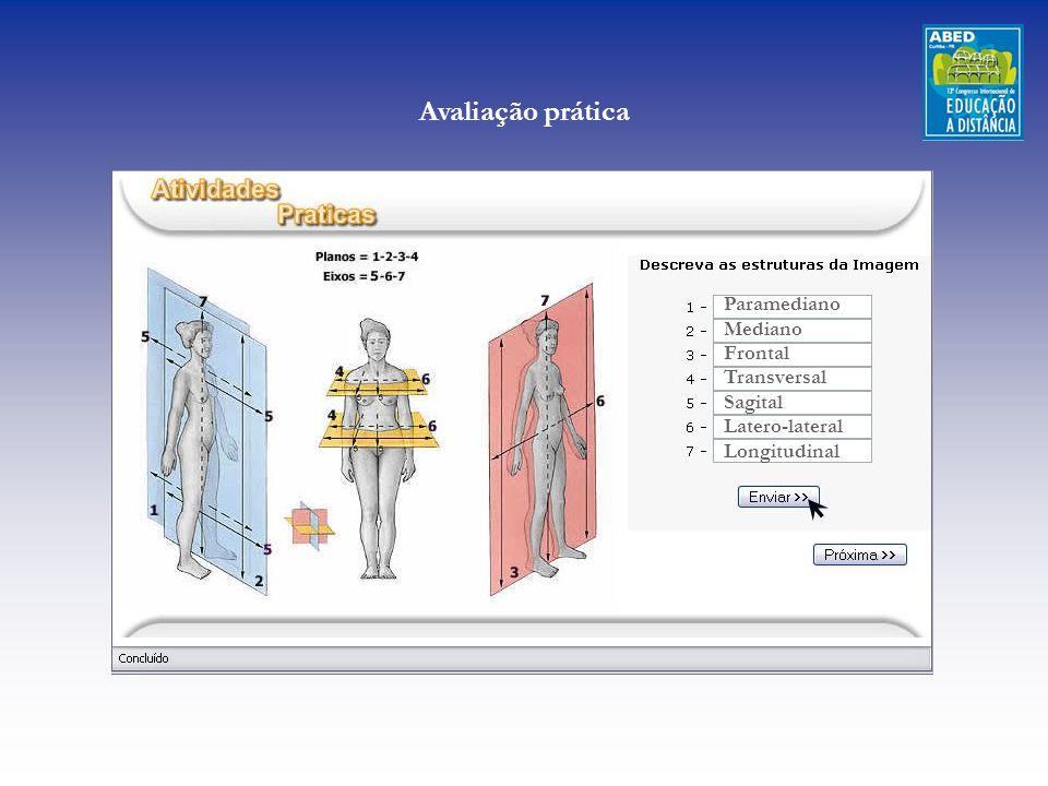 Avaliação prática Paramediano Mediano Frontal Transversal Sagital