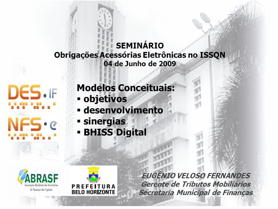 Modelos Conceituais: objetivos desenvolvimento sinergias BHISS Digital