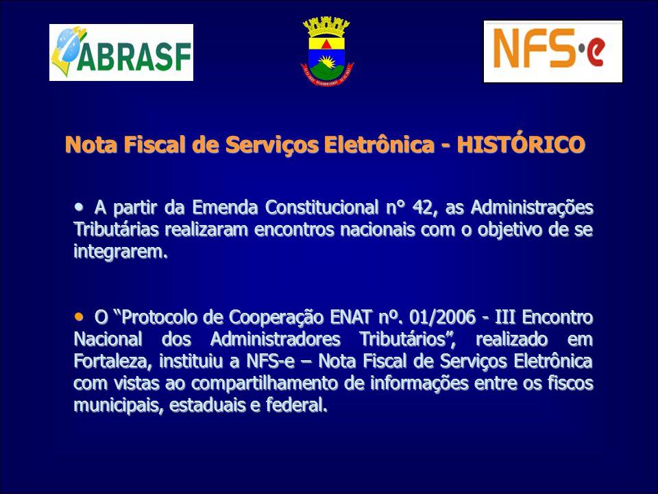 Nota Fiscal de Serviços Eletrônica - HISTÓRICO