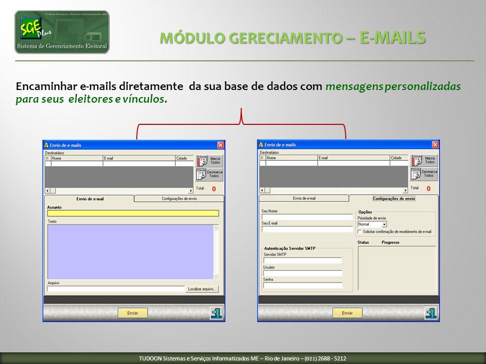 MÓDULO GERECIAMENTO – E-MAILS