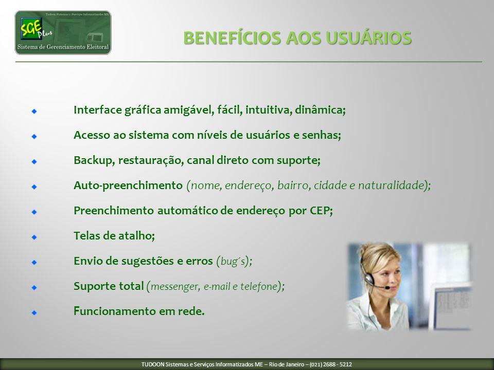 BENEFÍCIOS AOS USUÁRIOS