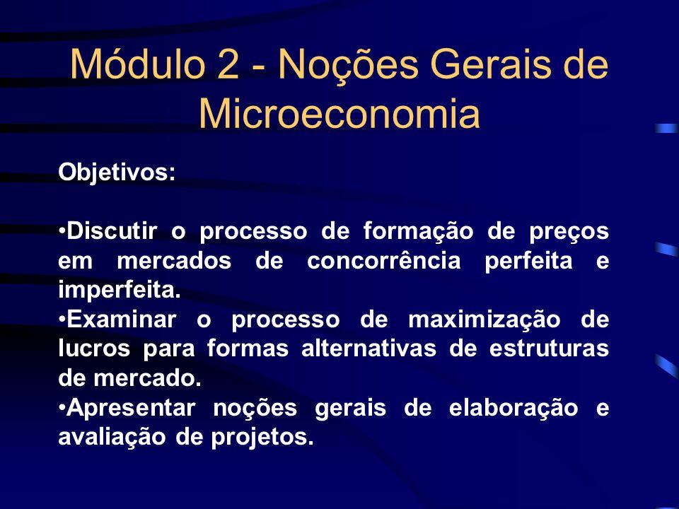 Módulo 2 - Noções Gerais de Microeconomia