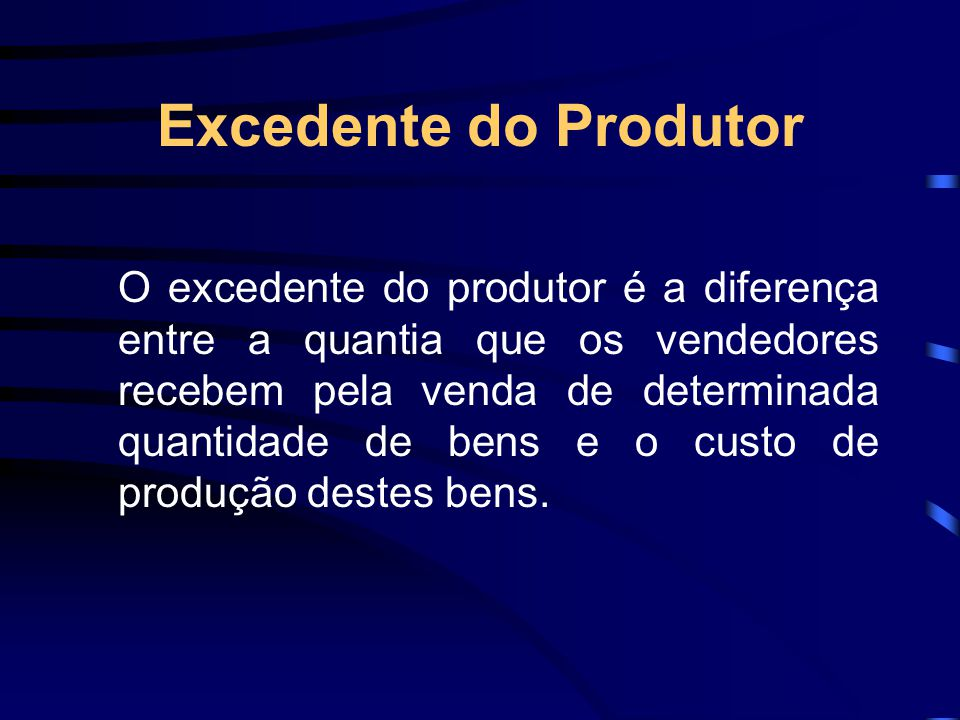 Excedente do Produtor