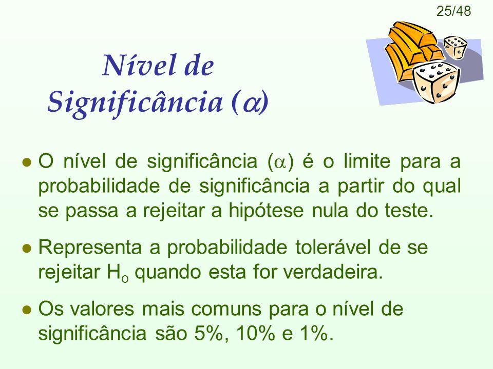 Nível de Significância ()