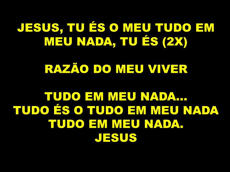 JESUS, TU ÉS O MEU TUDO EM MEU NADA, TU ÉS (2X)