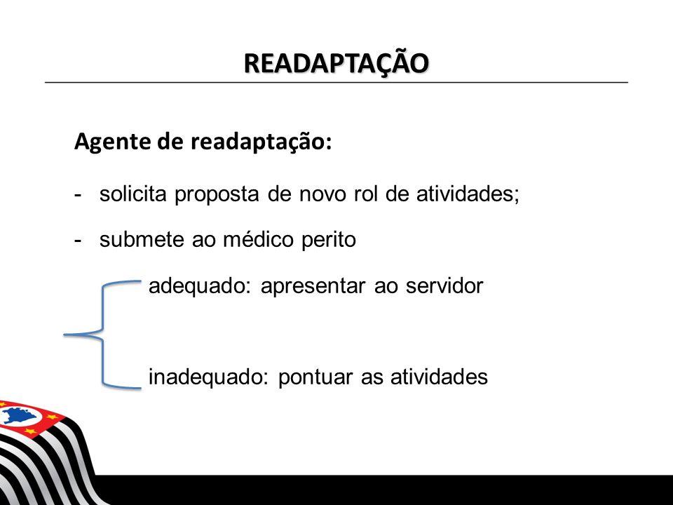 READAPTAÇÃO Agente de readaptação: