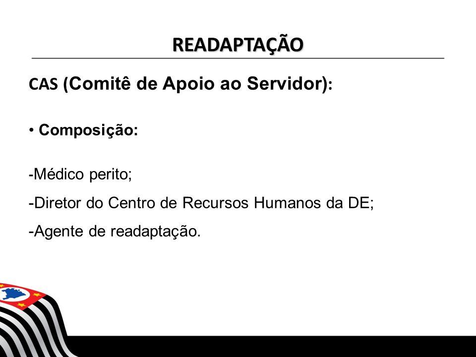 READAPTAÇÃO CAS (Comitê de Apoio ao Servidor): Composição: