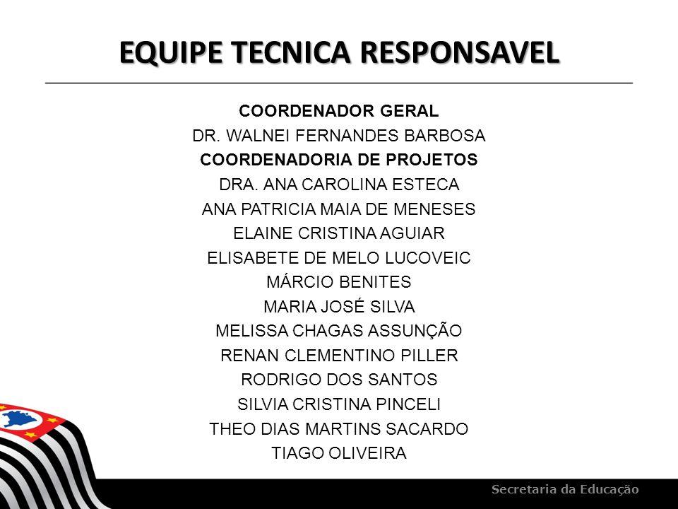 EQUIPE TECNICA RESPONSAVEL