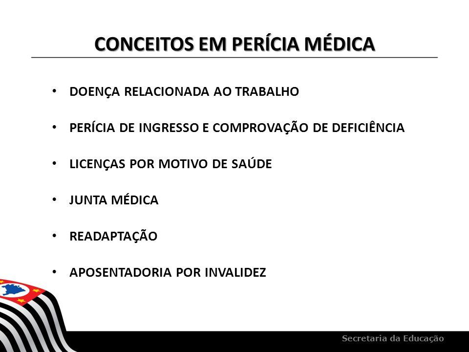 CONCEITOS EM PERÍCIA MÉDICA