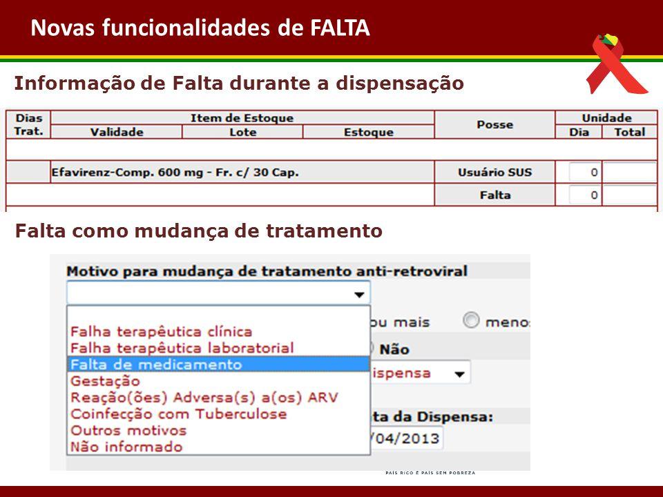 Próximas Implementações Novas funcionalidades de FALTA