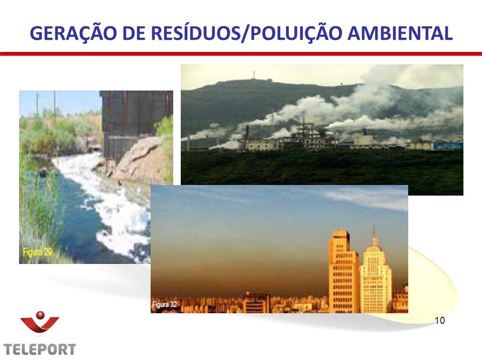 GERAÇÃO DE RESÍDUOS/POLUIÇÃO AMBIENTAL